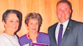 Minister Pru Goward with Yvonne Crestani and Mr Adam Crouch
