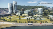 Artist's impression of the proposed NSW Department of Finance building on the Gosford waterfront