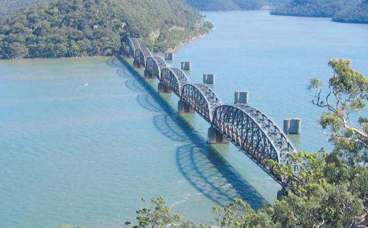A Go Slow order for freight trains is in place on Hawkesbury River Bridge