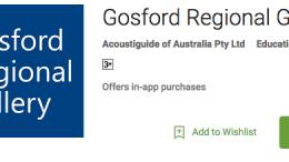Gosford Regional Gallery App