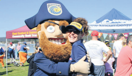 The Central Coast Mariners' Pirate at last year's One Walk