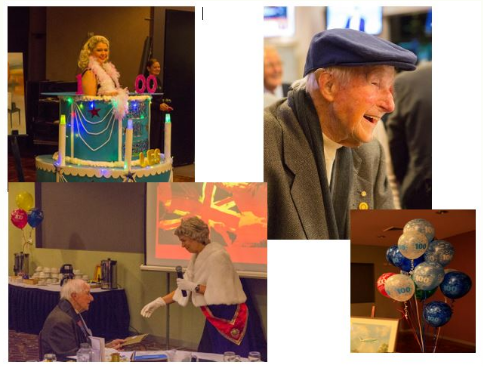 Les Arndell is an active Rotarian at 100