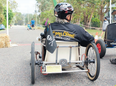The annual Mountain Mayhem Billy Cart Derby will be back this October. Photo: Noel Fisher