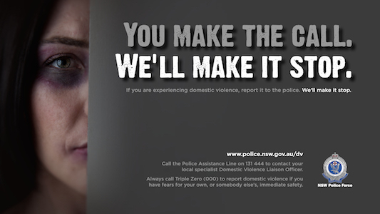 An image from the new anti-Domestic Violence campaign