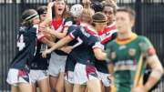 Jack Frasca and the Erina U16(1)s celebrate their victory over Wyong