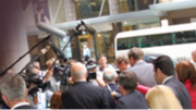 Media scrum outside ICAC hearing