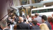Media scrum outside ICAC hearing