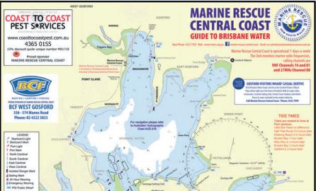 Brisbane Water Marine Map