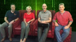 Members of Coastal Connexxions from left Mr Jon Dawson, Ms Louise Lewis, Mr David Abrahams and Mr Tim Willcox