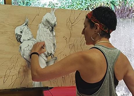 Karen Bloomfield in her studio