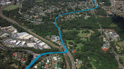 Propsosed future upgrade route shown in blue