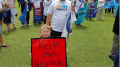 Demonstrators at the recent Wyong Hospital rally