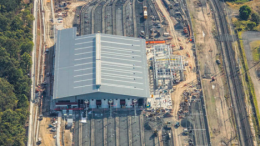 While basic questions go unanswered, the Brisbane train maintenance facility (pictured) is similar to that proposed for Kangy Angy