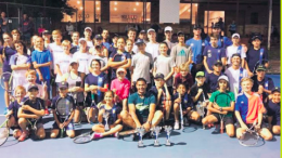 Roger Rasheed (front centre) with Roger Rasheed Cup participants