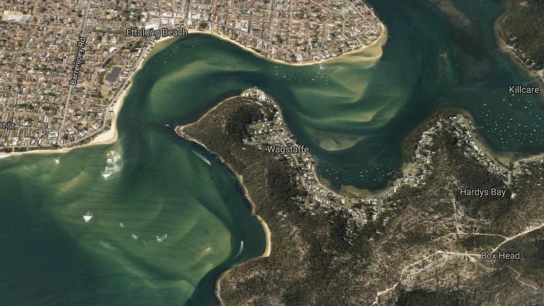 Brisbane Water Ettalong/Lobster Beach - image Google Earth 3D