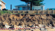 A beachfront property at Wamberal where residents are attempting to protect their properties from current coastal hazards