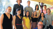 Mr John Bell front with 2016 Bouddi Foundation grant recipients