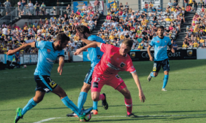 Mariners' Number 12, Trent Buhagiar in attack mode