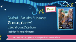Cinema Under the Stars will return to the Central Coast Stadium this Sat night