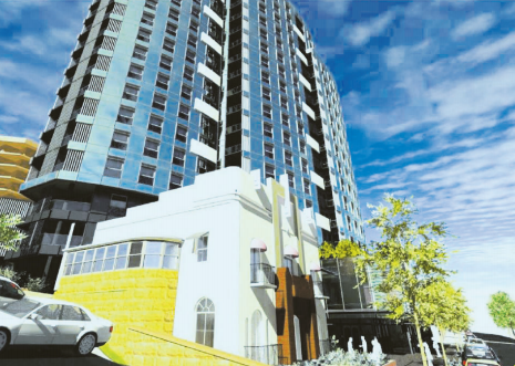 An artist's impression of the JRPP-approved mixed use development