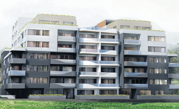 Artist impression of the Fielder St Residential Flat Building