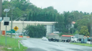 Truck traffic at the four-way intersection is of particular concern