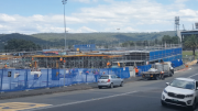 The ATO building being constructed on the Waterfront Park in Gosford