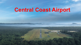 A view of the Central Coast Airport from the air. Photo: CC Aero Club
