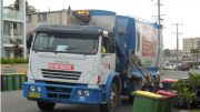 Central Coast garbage truck in action