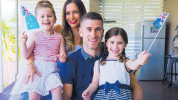 Nick and Josie Montgomery with their daughters Leah and Chloe