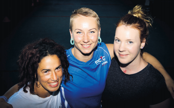 Bianca Elmir (left) and Anja Stridsman (middle)