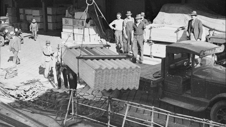 Asbestos products were widely used and exported in Australia up until the 70s.
