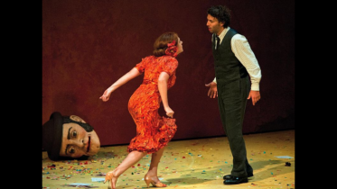 Magdalena Kožená as Carmen and Jonas Kaufmann as Don José at the Salzburg Festival 2012