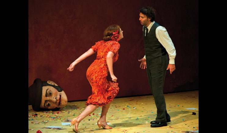 Magdalena Kožená as Carmen and Jonas Kaufmann as Don José at the Salzburg Festival 2012