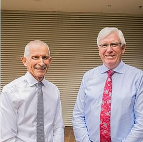 Central Coast Council CEO Rob Noble (left) & Administrator Ian Reynolds