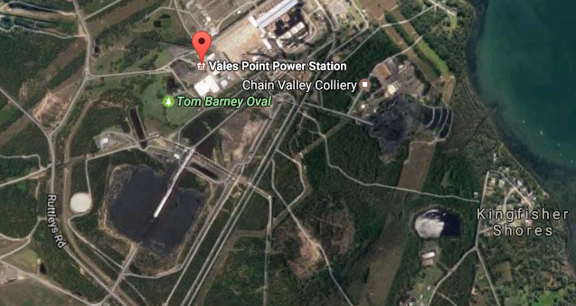 Vales Point Power Station Photo: Google Maps