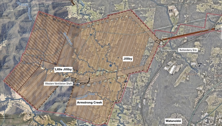 Map extract from project wallarah 2 website