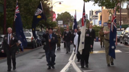 ANZAC day march in Gosford