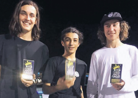 King of Concrete winners Noah Nayef, Sam Sutton and Rob Pace