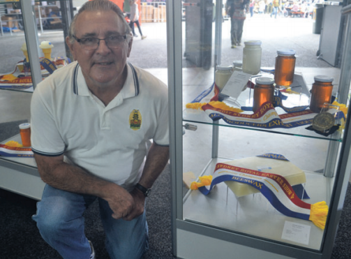 Raymond Isaacs secured the titles of Supreme Champion in both the white and yellow beeswax categories