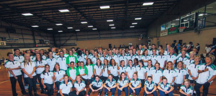 The Central Coast Academy of Sport Academy Games 2017 team