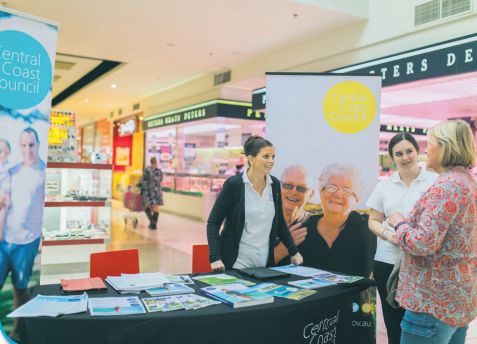 A recent Council pop up at Bateau Bay is one of the ways Central Coast Council is engaging with the community to put together its new strategic plan