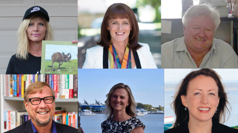 The six candidates for the state seat of Gosford.
