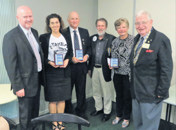 From left: Mr Paul Quinn, Ms Sarah Beard, Mr Peter Lambeth, Mr Graeme Davies, Ms Jan Consoli, President Mike Curley