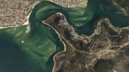 The silted channel Box head, Ettalong IMG: Google Earth