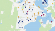 The new interactive mapping system shows all current road and drainage projects on the Peninsula