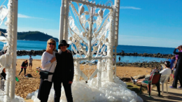 Local artist Jane Gilling's piece the Pearly Gates was a crowd favourite during the 5 Lands Walk