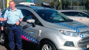 Glenn Provis with the Force's Pete Watson and new vehicle