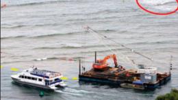Dredge work off Lobster Beach