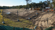 The levee bank has been described as minor storm water works by Central Coast Council